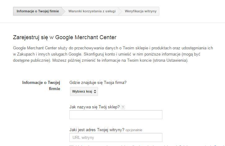 483962bbf63ef9 Przejdź na stronę: https://www.google.com/merchants i zarejestruj nowe  konto w usługach Google. Jeżeli posiadasz już takie konto, wystarczy się do  niego ...
