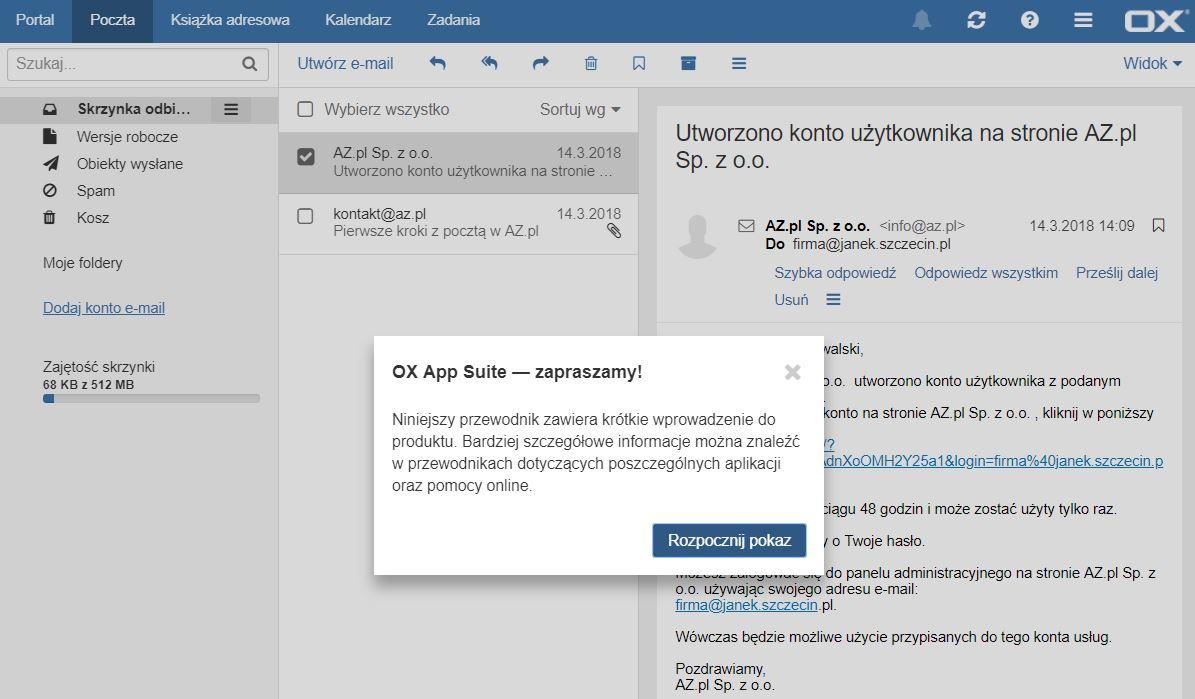 f935311a1fffbc Zaloguj się do wybranej skrzynki e-mail, która została utworzona na  serwerze w AZ.pl