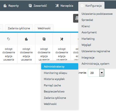 Jak utworzyć administratora z dostępem do WebAPI?