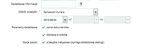 Jak dołączyć dodatkowe opcje do przesyłki Apaczka?