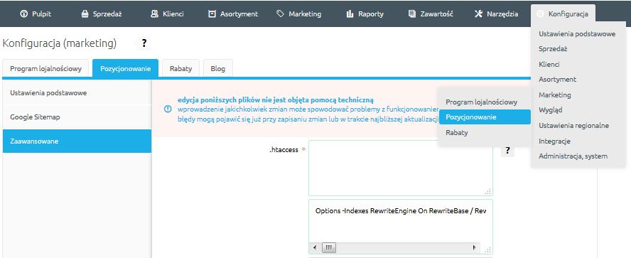 Gdzie mogę zmodyfikować plik .htaccess?