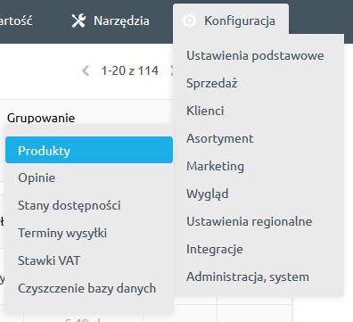 Pola ISBN, KGO, BLOZ7, BLOZ12 oraz Kod producenta