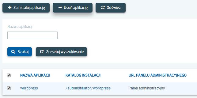 Jak odinstalować aplikację CMS z serwera?