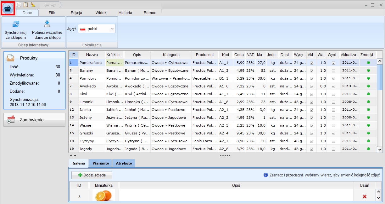Integracja Store Manager z programem Subiekt GT