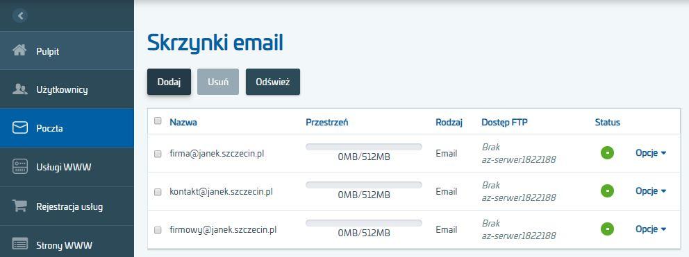 Gdzie znajdę adresy serwerów pocztowych (SMTP, IMAP)?