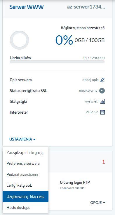 Jak skonfigurować ukryty katalog na serwerze?
