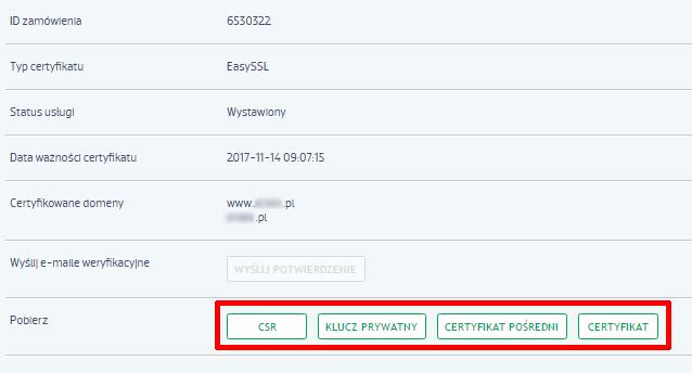 Gdzie znajdę certyfikaty pośrednie (CA) dla SSL?