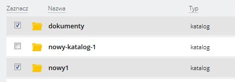 Jak przenosić dane między katalogami za pomocą WebFTP?