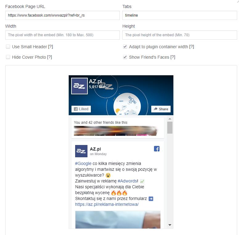 Wysuwany moduł Facebook w sklepie internetowym (likebox)