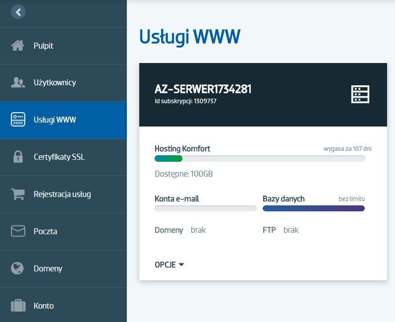 Jak zainstalować CMS WordPress w panelu klienta AZ.pl?
