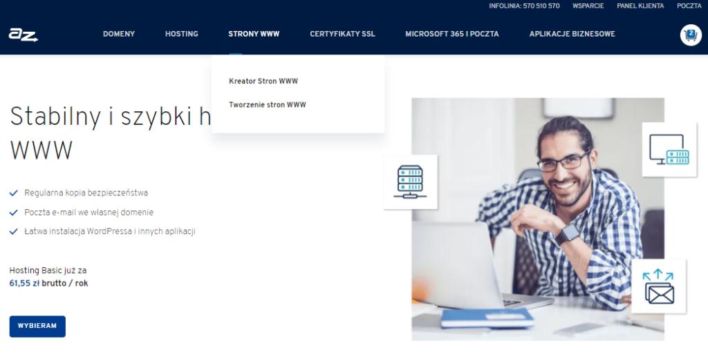 Jak zarejestrować nową usługę w AZ.pl?