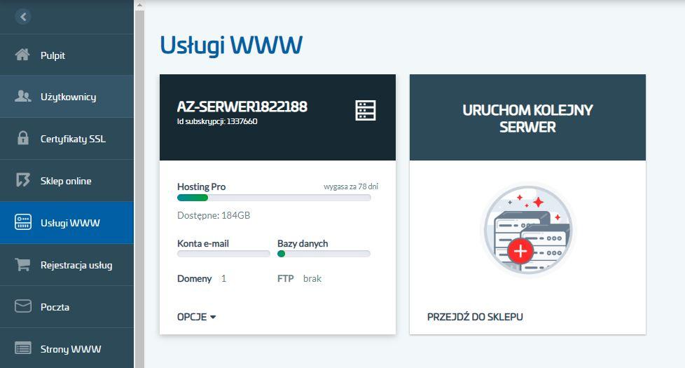 Instalacja certyfikatu SSL na serwerze w AZ.pl