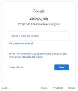 logowanie do konta Google